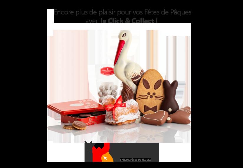 Vos biscuits et chocolats de Pâques en Click & Collect
