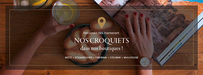 Nos Croquiets sont disponibles en boutiques : biscuit citron gingembre