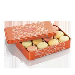 Fleur de soleil - Macarons fins Citron, Fleur de sureaux, Fraise, Rhubarbe, Mirabelle, Verveine