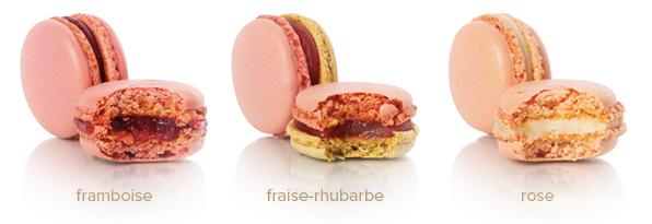Une nouvelle collection de Macarons Fins : framboise, fraise-rhubarbe, rose