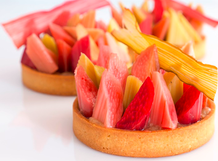 Recette de la tarte rhubarbe à l'alsacienne - Maison Alsacienne de Biscuiterie